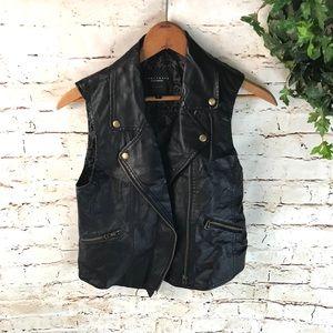 Sanctuary Faux Leather Moto Vest